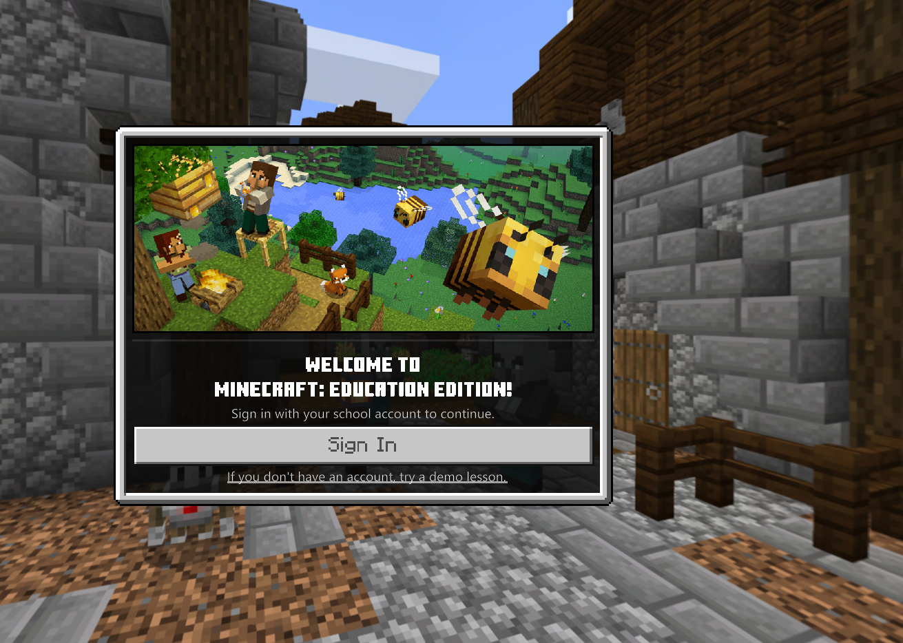 can t log in to Minecraft Minecraft: Education Edition Support